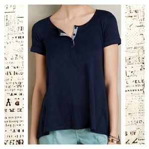 Anthropologie downtime Henley t shirt